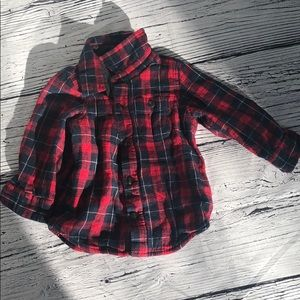 Baby gap warm lined flannel shirt - 18-24 m